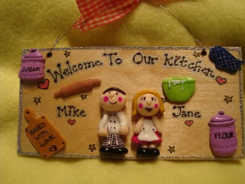 3d Personalised 2 Character Kitchen Sign Plaque Any Phrasing Ideal Mother's Day Valentine's Gift Christmas New Home